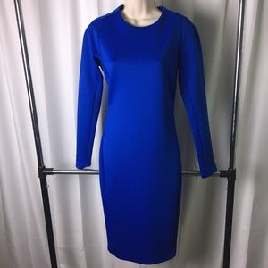Zara Scuba Blue Dress
